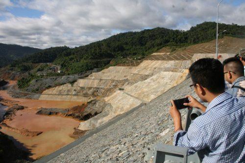 Vị trí sự cố vỡ hầm dẫn dòng thủy điện Sông Bung 2 xảy ra vào tháng 9