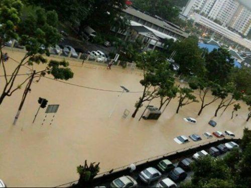 Mưa lớn khiến bang Penang của Malaysia bị ngập nặng (Nguồn: Nst.com.my)
