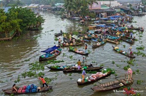 Đồng bằng Sông Cửu long sẽ ảnh hưởng nặng nề từ các dự án thủy điện ở thượng nguồn sông Mê Kông. Ảnh internet.