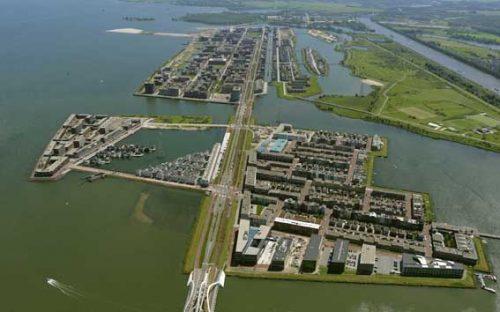 Quy hoạch khu Đô thị nổi thích ứng với ngập lụt ở TP Amsterdam, Hà Lan.