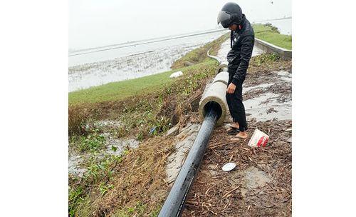 Đường ống xả thải của Nhà máy Vinatex Quảng Trị sẽ chảy ra sông Ô Lâu đã tạm dừng thi công sau khi bị người dân phản ứng.