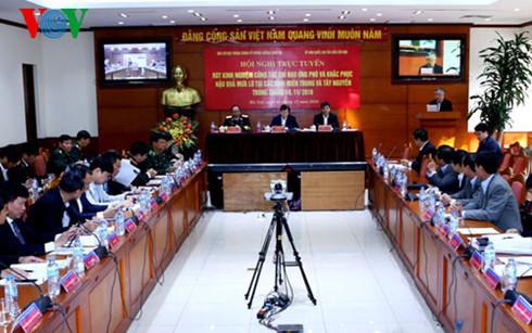 Phó Thủ tướng Trịnh Đình Dũng chủ trì hội nghị rút kinh nghiệm mua lũ miền Trung Tây Nguyên