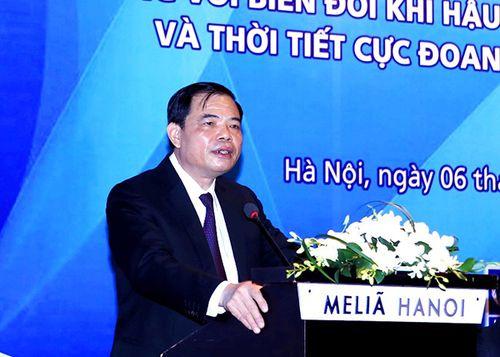 Bộ trưởng Bộ NN&PTNT Nguyễn Xuân Cường phát biểu tại hội nghị.