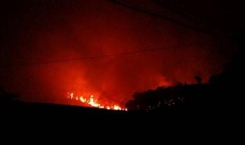 Cháy lớn rừng phòng hộ tại huyện Sóc Sơn