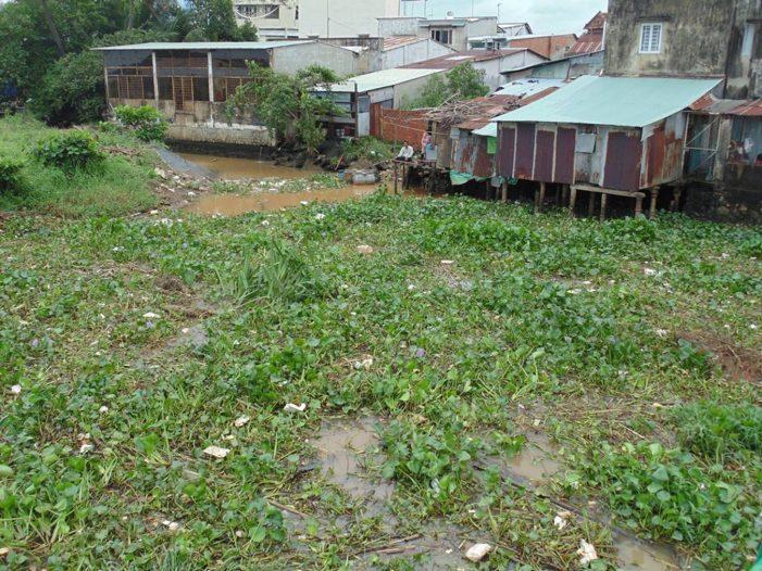Dự án san lấp sông Đồng Nai dang dở gây ô nhiễm môi trường