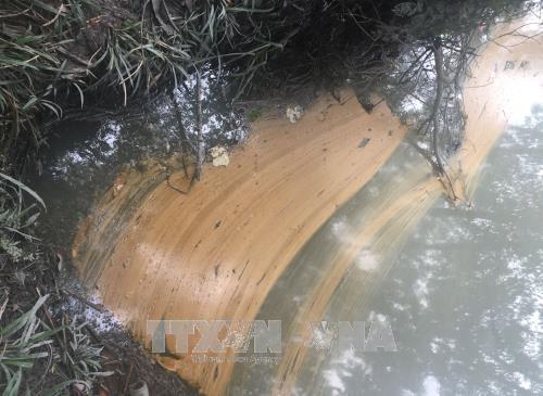 Bình Phước: Hàng trăm lít dầu tràn ra suối gây ô nhiễm môi trường