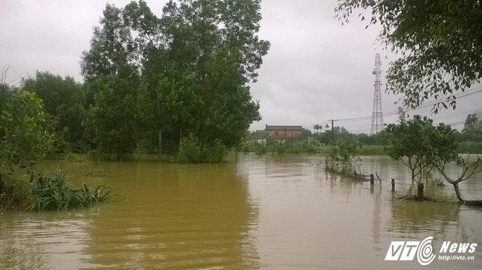 Làng quê ở Huế ngập sâu trong mưa lũ