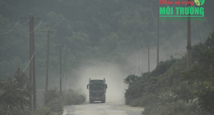 Ô nhiễm bụi từ các mỏ đá ở Hòa Bình