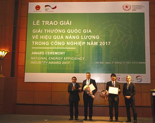 Trao Giải thưởng Quốc gia về hiệu quả năng lượng trong công nghiệp năm 2017