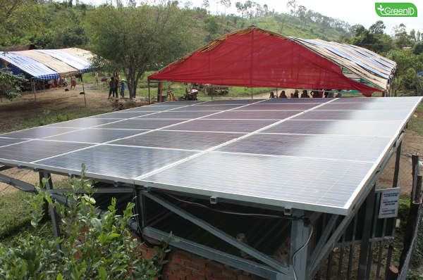 Thôn Ea Rớt được cấp điện mặt trời và nước sạch