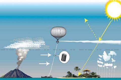"""""""Chọc"""" núi lửa để che mát bầu khí quyển"""
