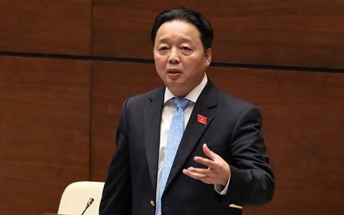 Trực tiếp: Bộ trưởng Bộ TN&MT Trần Hồng Hà trả lời chất vấn
