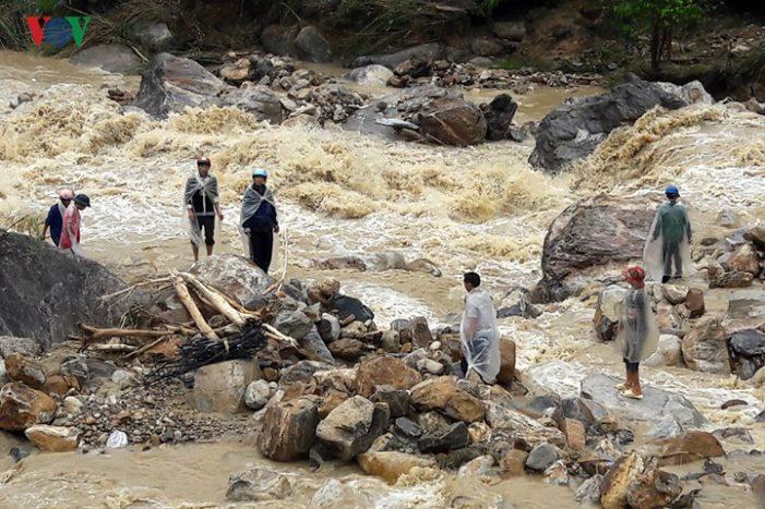 Hình ảnh Lai Châu tan hoang trong mưa lũ lịch sử