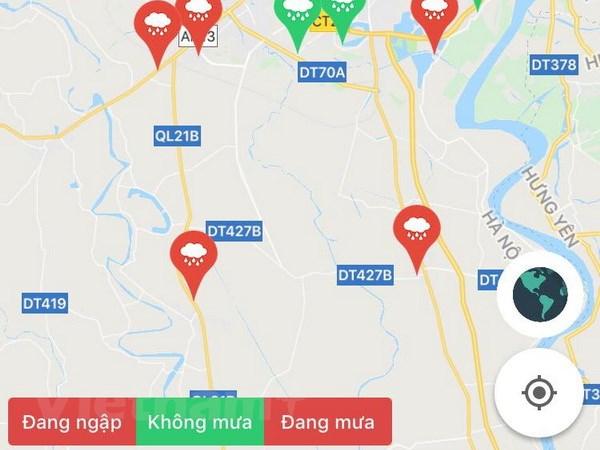 Ứng dụng điện thoại cảnh báo các tuyến đường ngập lụt tại Hà Nội