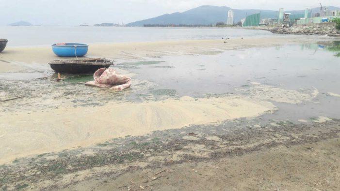 Nước thải lại chảy ra bờ biển Đà Nẵng
