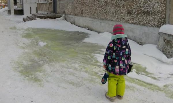Tuyết xanh ở Nga làm dấy lên mối lo ngại về ô nhiễm