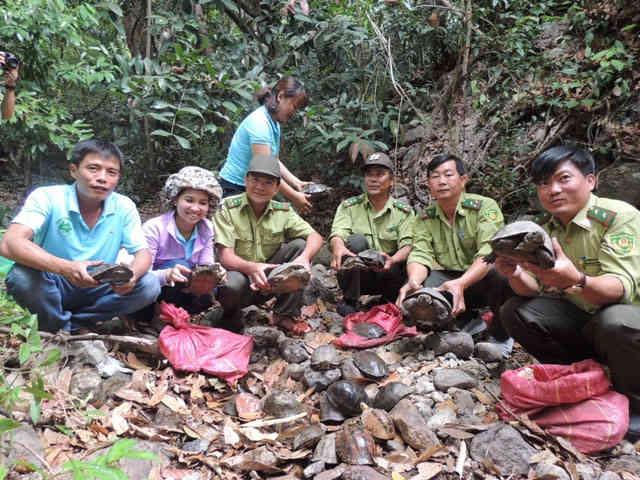 Thả 88 cá thể động vật hoang dã về Vườn quốc gia Chư Mom Ray