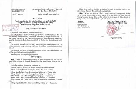 Gia Lai: Thanh tra toàn diện tại Ban Quản lý Rừng phòng hộ Bắc Ia Grai