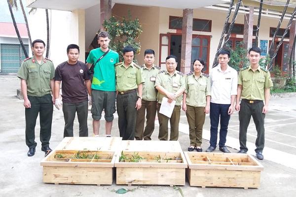 Lạc Thuỷ bàn giao 29 cá thể rùa sa nhân về Trung tâm cứu hộ Rùa Cúc Phương