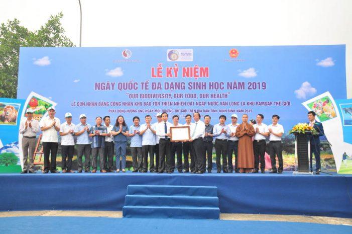 Vân Long nhận Bằng công nhận khu Ramsar thứ 9 của Việt Nam