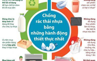 Chống rác thải nhựa bằng những hành động thiết thực