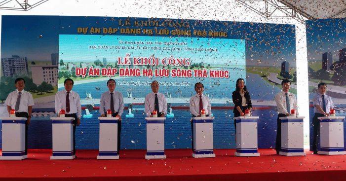 Quảng Ngãi khởi công dự án đập dâng hạ lưu sông Trà Khúc