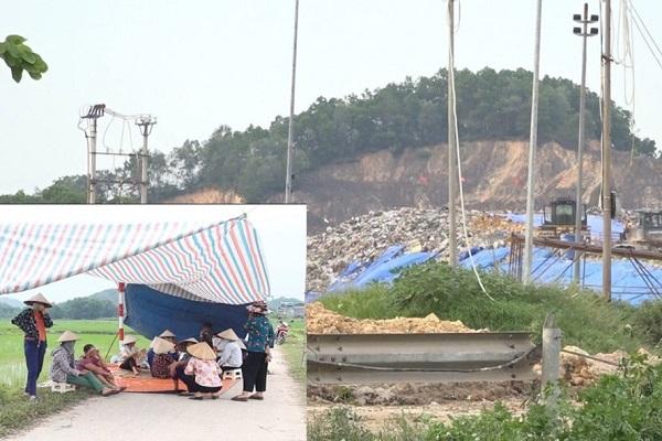 Chặn xe vào bãi rác Nam Sơn: Bao giờ giải quyết dứt điểm khúc mắc của dân?