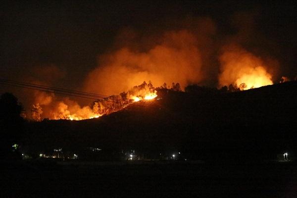Tiếp tục cháy rừng ở Hà Tĩnh, người dân phải sơ tán trong đêm