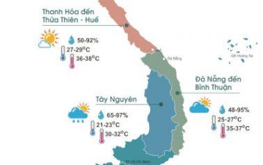 Nắng nóng vẫn rộng khắp cả miền Bắc, miền Trung