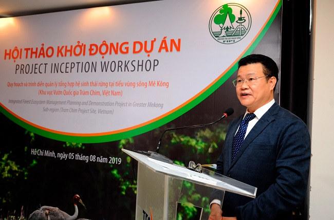 Khởi động dự án hệ sinh thái rừng tại tiểu vùng sông Mê Kông, Vườn Quốc gia Tràm Chim