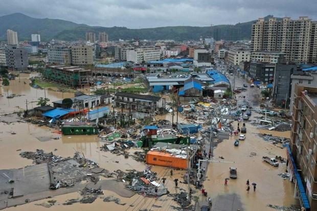 Bão Lekima tiếp tục hoành hành tại Trung Quốc, số người chết tăng