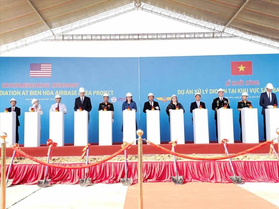 Khởi công dự án 390 triệu USD xóa sạch ô nhiễm dioxin sân bay Biên Hòa